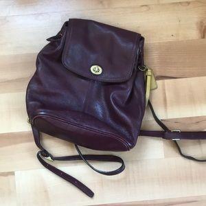 Coach pebbled leather mini backpack